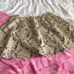 Lace design skater skirt
